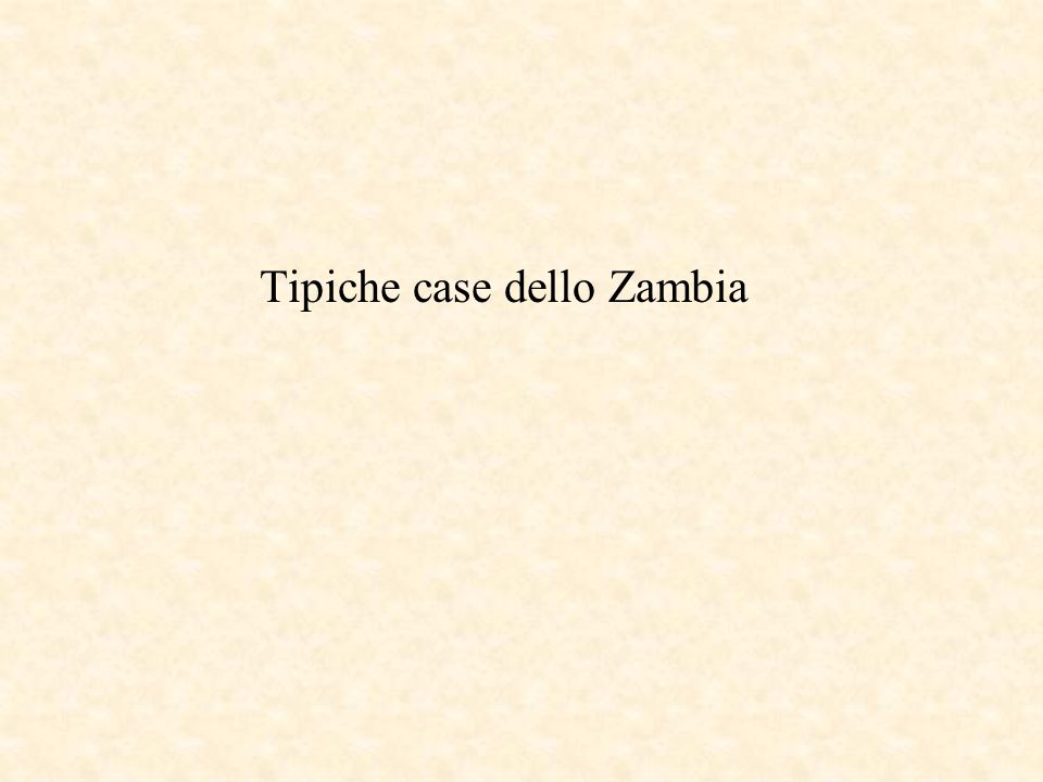 Tipiche case dello Zambia