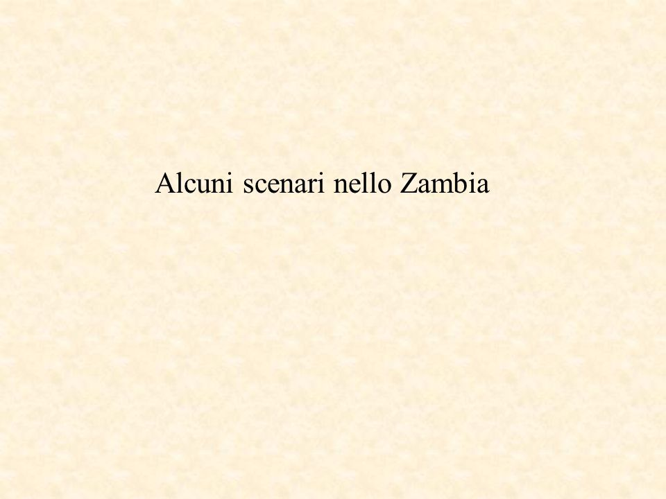 Alcuni scenari nello Zambia