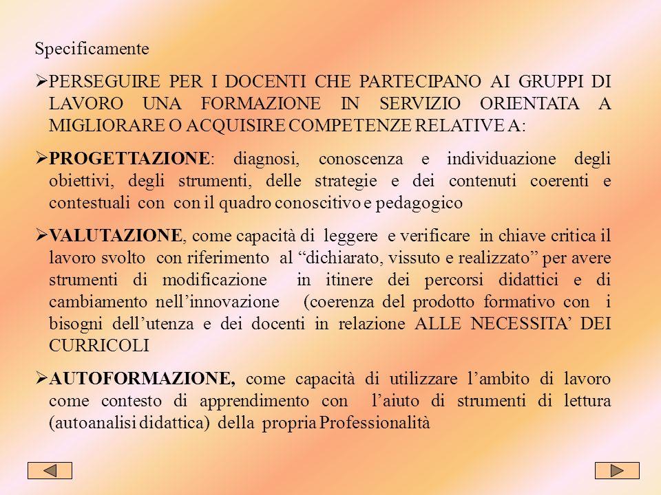 FASE 15 COMUNICARE PUBBLICIZZAZIONE Individuazione dei destinatari per la restituzione delle informazioni per lautovalutazione dei processi agiti e dei prodotti realizzati.