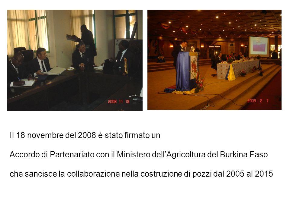 Il 18 novembre del 2008 è stato firmato un Accordo di Partenariato con il Ministero dellAgricoltura del Burkina Faso che sancisce la collaborazione ne