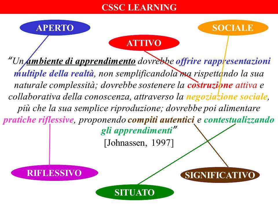 Un ambiente di apprendimento dovrebbe offrire rappresentazioni multiple della realtà, non semplificandola ma rispettando la sua naturale complessità;