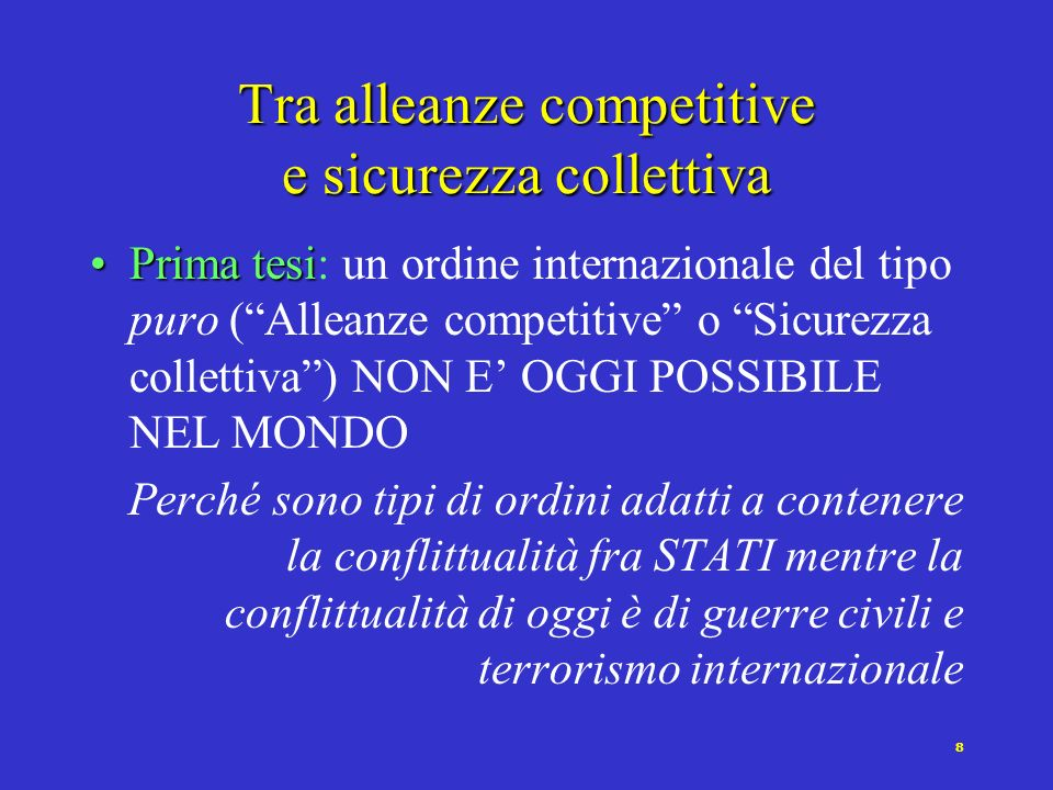 19 Verso unUnione Europea protagonista Politica estera e di sicurezza Cellula di difesa dellUE (Moms), rapporti con la N.A.T.O.