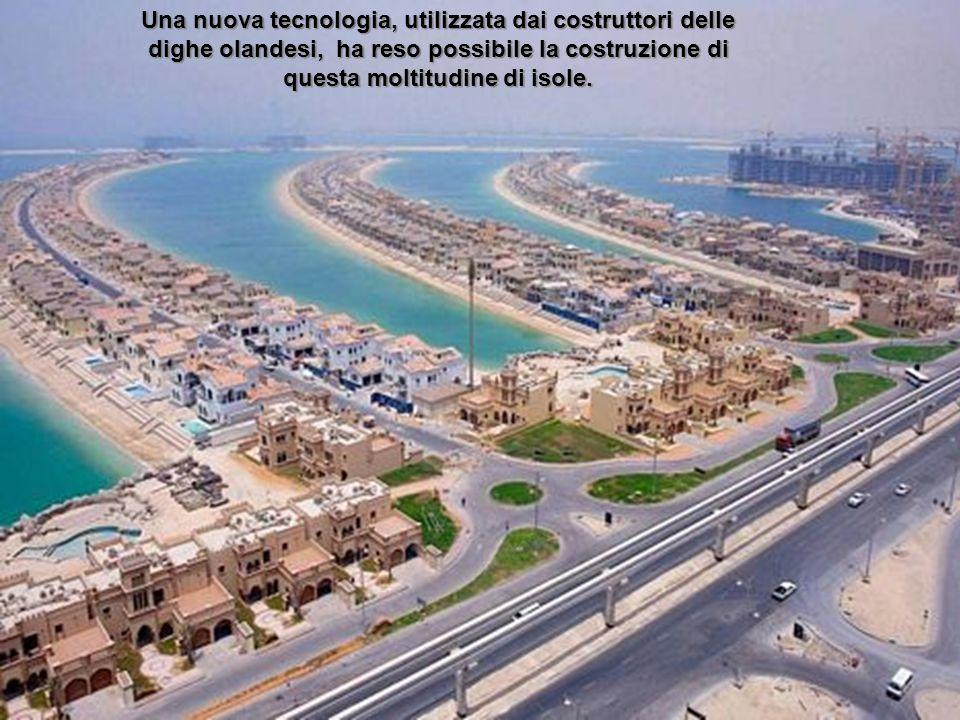 LE ISOLE PALMERA A DUBAI VISTE DALLALTO
