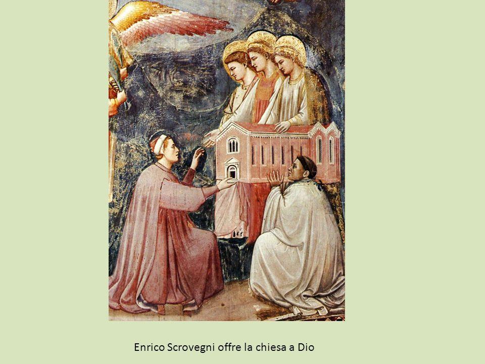 Enrico Scrovegni offre la chiesa a Dio