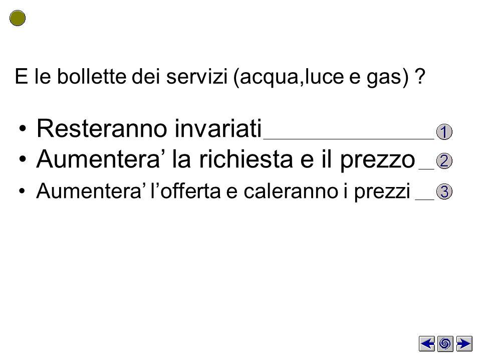 E le bollette dei servizi (acqua,luce e gas) .