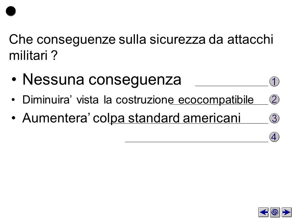 Che conseguenze sulla sicurezza da attacchi militari .