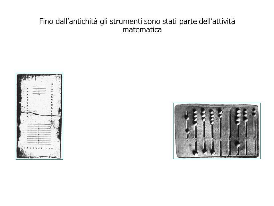 Fino dallantichità gli strumenti sono stati parte dellattività matematica