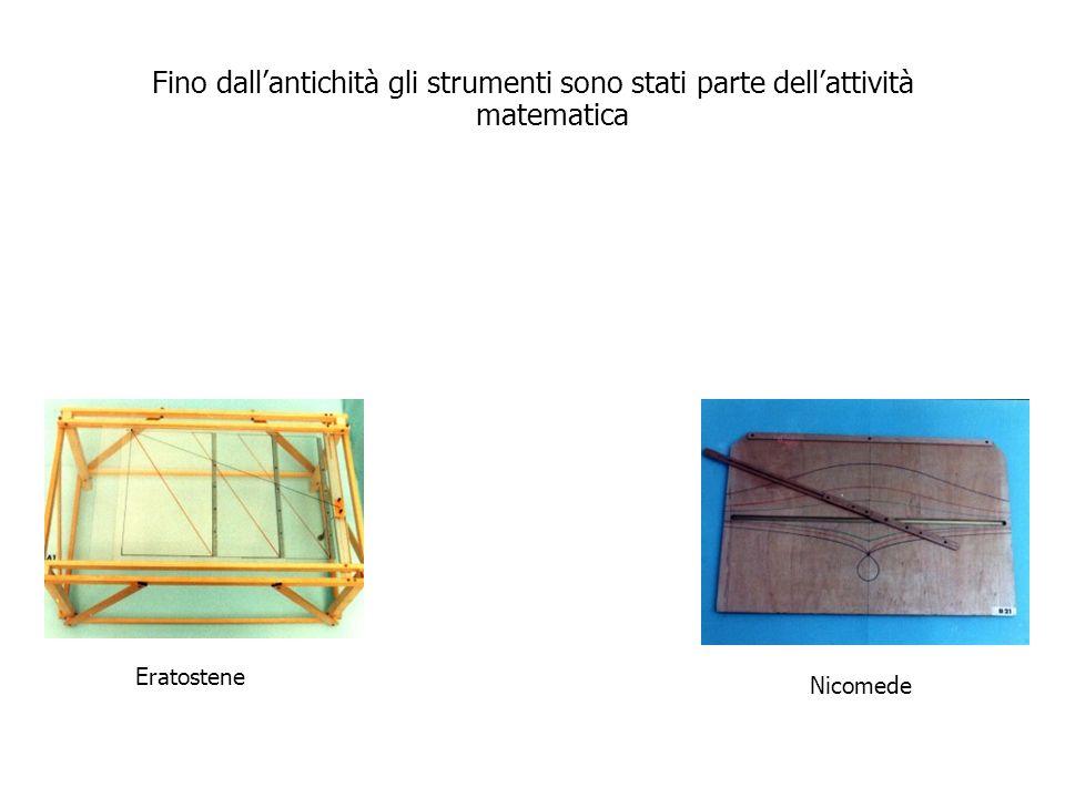 Fino dallantichità gli strumenti sono stati parte dellattività matematica Descartes Newton