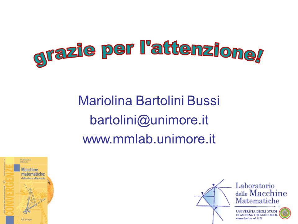 Mariolina Bartolini Bussi bartolini@unimore.it www.mmlab.unimore.it
