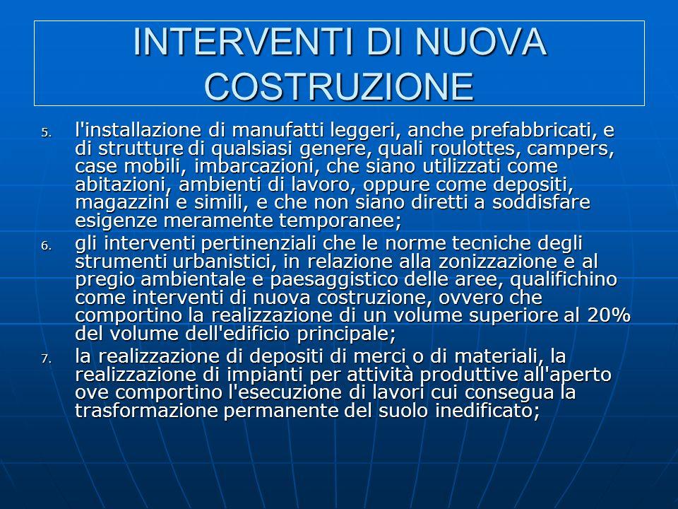 INTERVENTI DI NUOVA COSTRUZIONE 5.