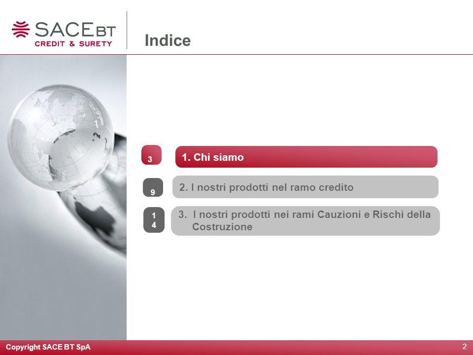 Copyright SACE BT SpA 2 2.I nostri prodotti nel ramo credito 3.