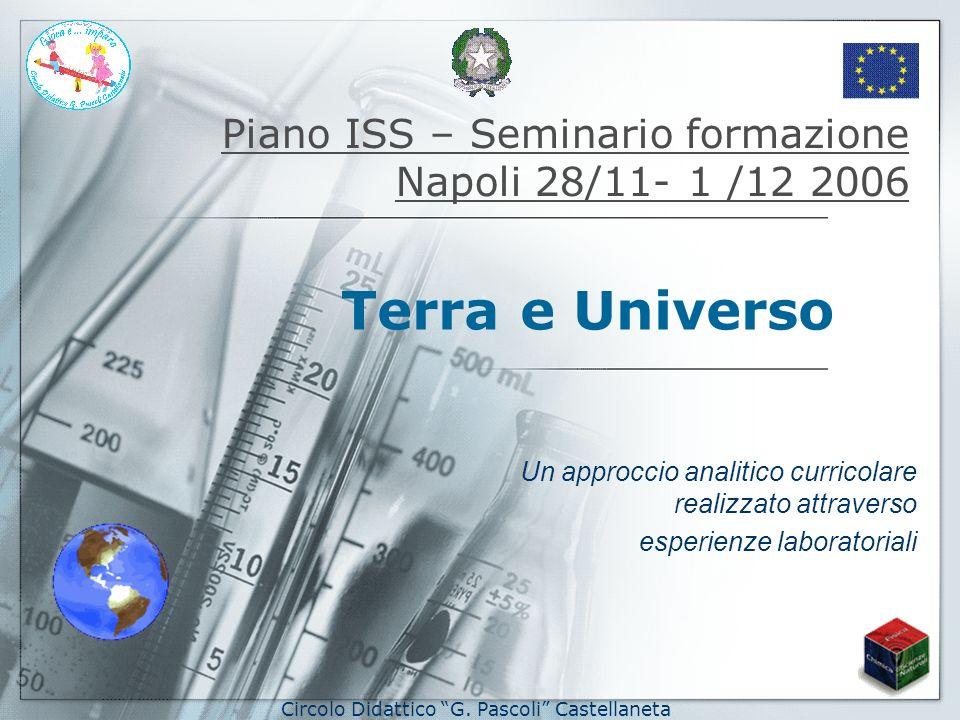 Piano ISS – Seminario formazione Napoli 28/11- 1 /12 2006 Un approccio analitico curricolare realizzato attraverso esperienze laboratoriali Terra e Un