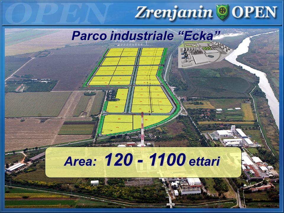 Parco industriale Ecka Area: 120 - 1100 ettari