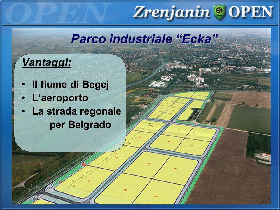 Parco industriale Ecka Vantaggi: Il fiume di BegejIl fiume di Begej LaeroportoLaeroporto La strada regonaleLa strada regonale per Belgrado