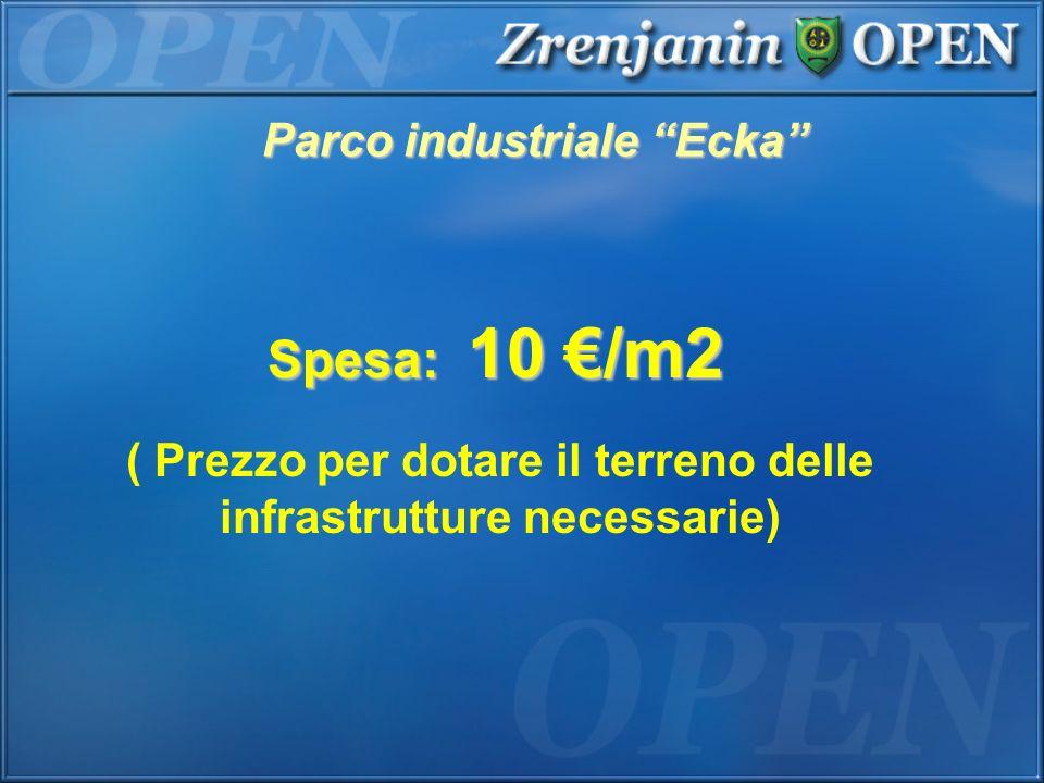 Parco industriale Ecka Spesa: 10 /m2 ( Prezzo per dotare il terreno delle infrastrutture necessarie)
