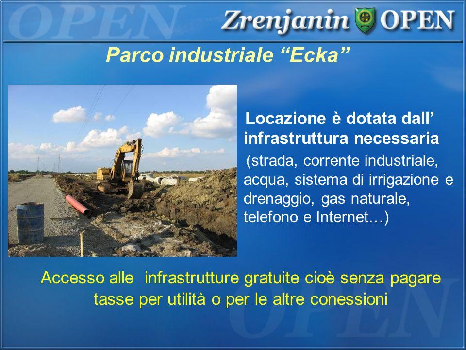 Parco industriale Ecka Locazione è dotata dall infrastruttura necessaria (strada, corrente industriale, acqua, sistema di irrigazione e drenaggio, gas