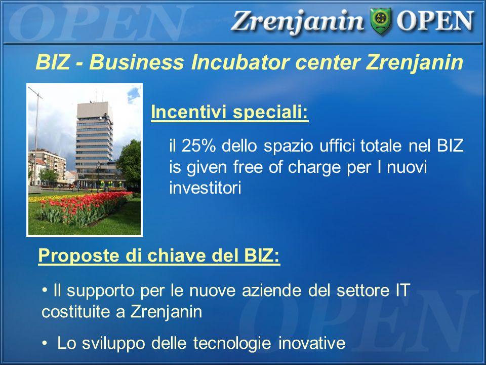 BIZ - Business Incubator center Zrenjanin Incentivi speciali: il 25% dello spazio uffici totale nel BIZ is given free of charge per I nuovi investitor