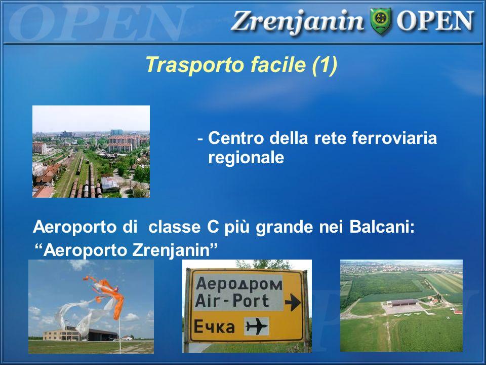 - Centro della rete ferroviaria regionale Aeroporto di classe C più grande nei Balcani: Aeroporto Zrenjanin Trasporto facile (1)