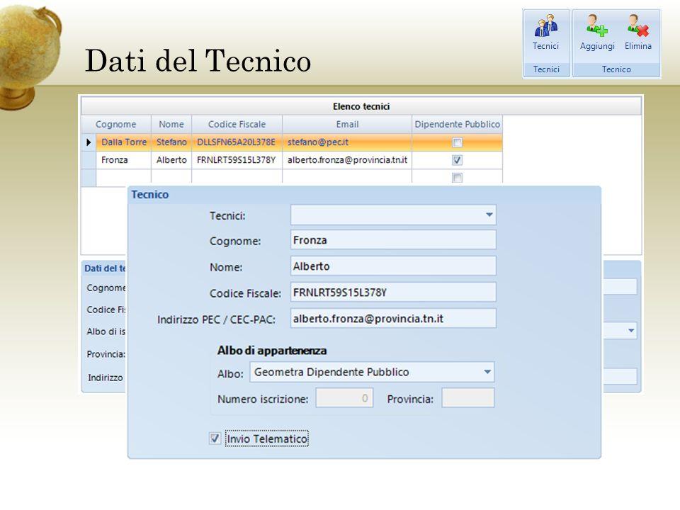 Dati del Tecnico