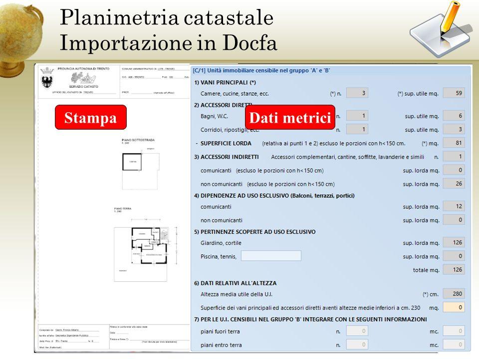 Planimetria CAD Planimetria catastale Importazione in Docfa Importazione Planimetria Docfa StampaDati metrici