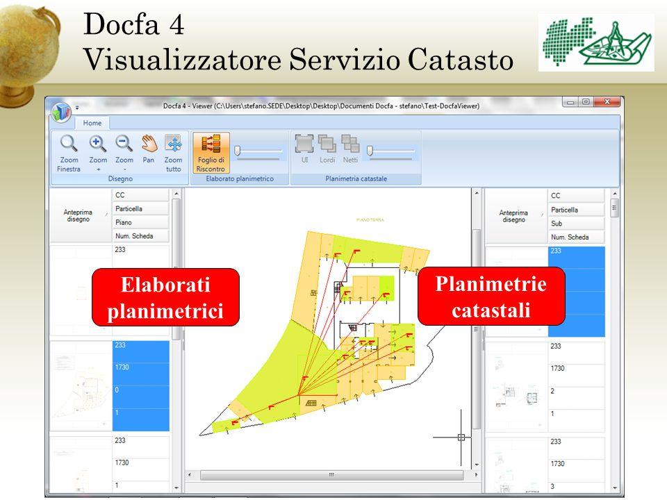 Docfa 4 Visualizzatore Servizio Catasto Elaborati planimetrici Planimetrie catastali