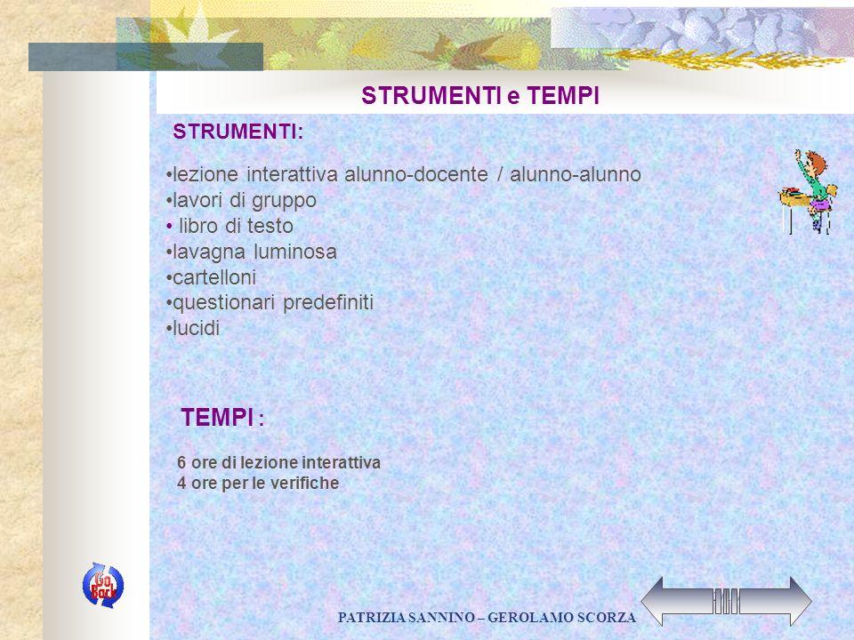 PATRIZIA SANNINO – GEROLAMO SCORZA 22/11/2002 CONTENUTI : Gli alunni verranno avviati a saper distinguere fra gli oggetti del mondo reale e i modelli