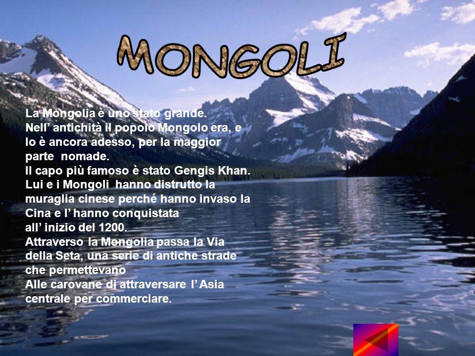 La Mongolia è uno stato grande.