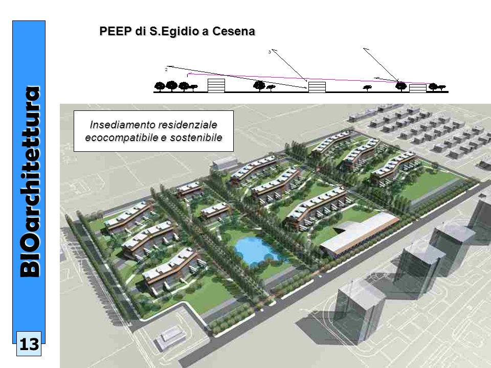 PEEP di S.Egidio a Cesena PEEP di S.Egidio a CesenaBIOarchitettura 13 Insediamento residenziale ecocompatibile e sostenibile