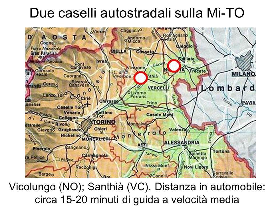 Due caselli autostradali sulla Mi-TO Vicolungo (NO); Santhià (VC). Distanza in automobile: circa 15-20 minuti di guida a velocità media