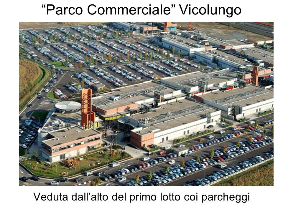 Parco Commerciale Vicolungo Veduta dallalto del primo lotto coi parcheggi