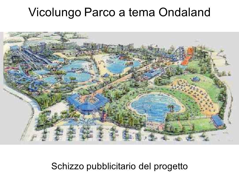 Vicolungo Parco a tema Ondaland Schizzo pubblicitario del progetto