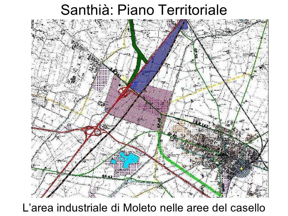 Santhià: Piano Territoriale Larea industriale di Moleto nelle aree del casello
