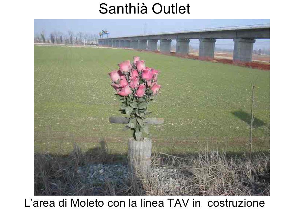 Santhià Outlet Larea di Moleto con la linea TAV in costruzione