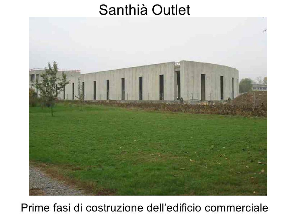 Santhià Outlet Prime fasi di costruzione delledificio commerciale