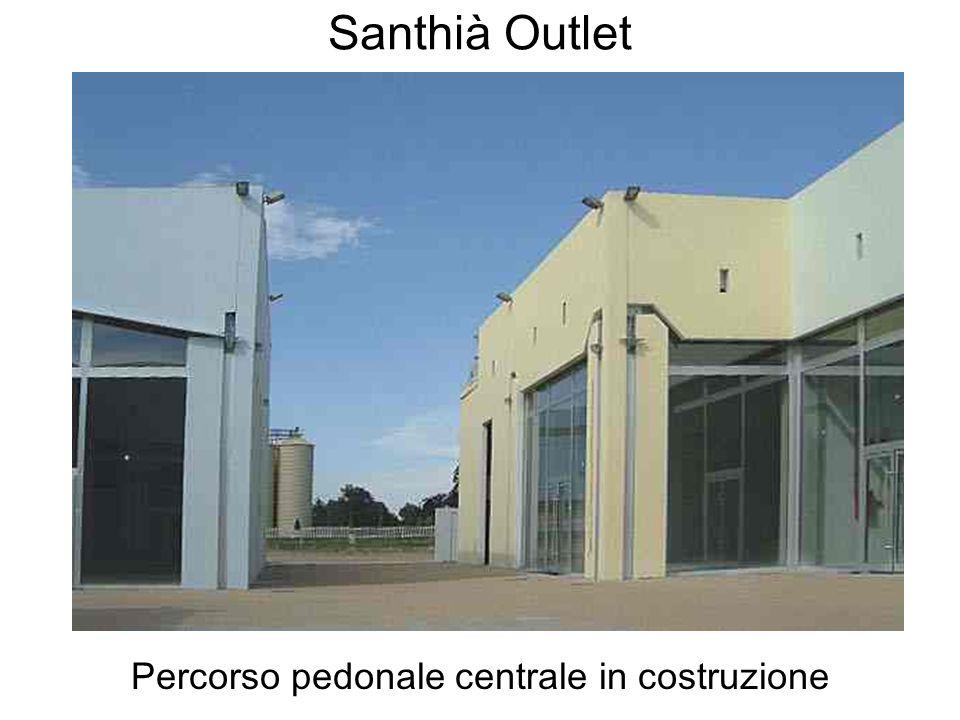 Santhià Outlet Percorso pedonale centrale in costruzione