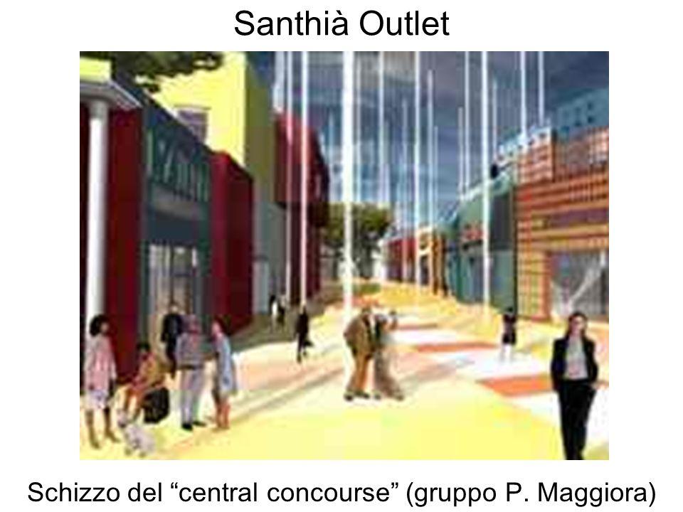 Santhià Outlet Schizzo del central concourse (gruppo P. Maggiora)