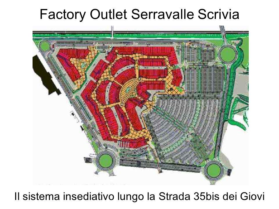 Factory Outlet Serravalle Scrivia Il sistema insediativo lungo la Strada 35bis dei Giovi