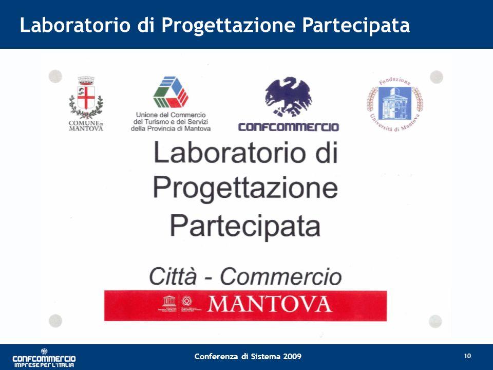 Conferenza di Sistema 2009 Laboratorio di Progettazione Partecipata 10