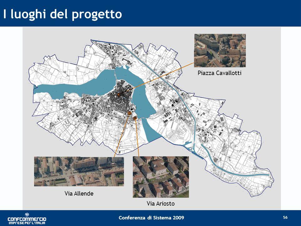 Conferenza di Sistema 2009 I luoghi del progetto 56 Via Ariosto Via Allende Piazza Cavallotti