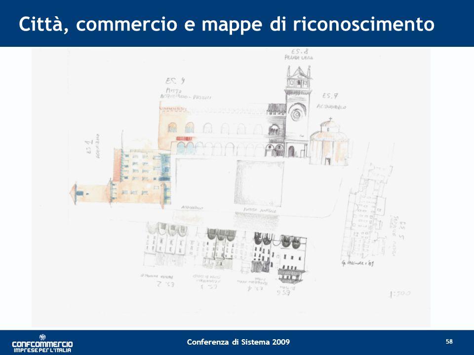 Conferenza di Sistema 2009 Città, commercio e mappe di riconoscimento 58
