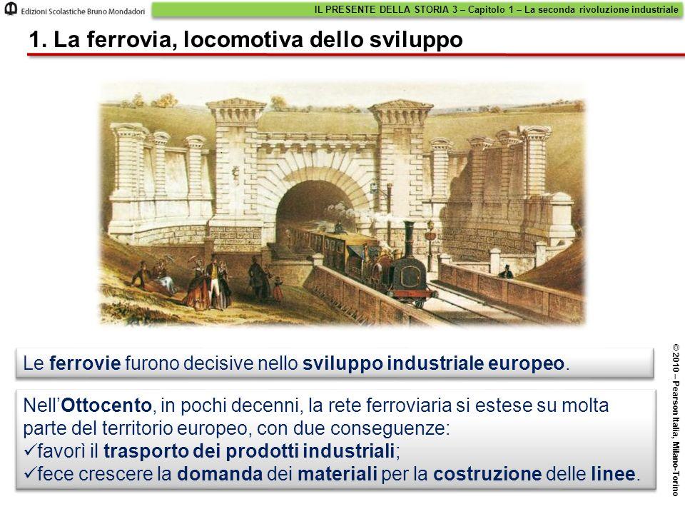 Le ferrovie furono decisive nello sviluppo industriale europeo. NellOttocento, in pochi decenni, la rete ferroviaria si estese su molta parte del terr