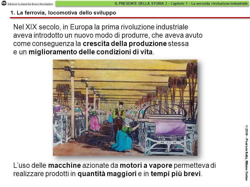 Luso delle macchine azionate da motori a vapore permetteva di realizzare prodotti in quantità maggiori e in tempi più brevi. Nel XIX secolo, in Europa
