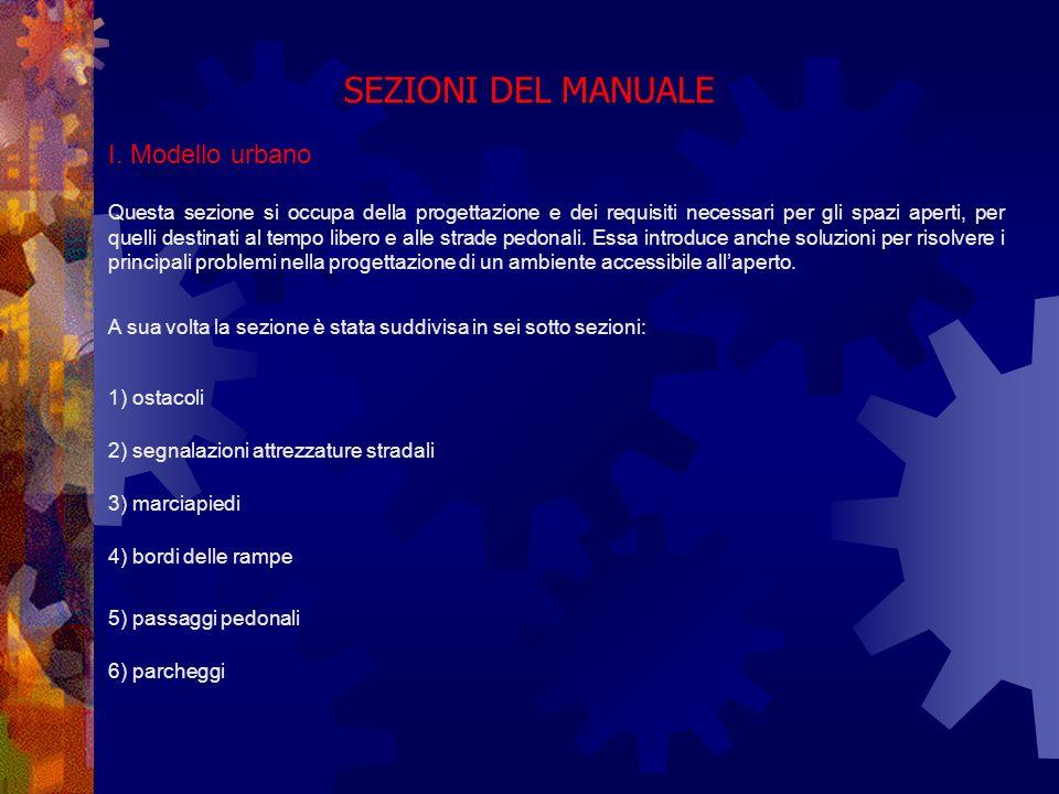 SEZIONI DEL MANUALE 6) parcheggi I.