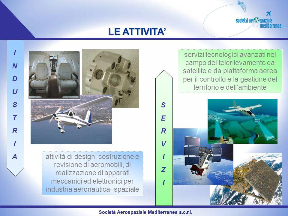 LE ATTIVITA attività di design, costruzione e revisione di aeromobili, di realizzazione di apparati meccanici ed elettronici per industria aeronautica