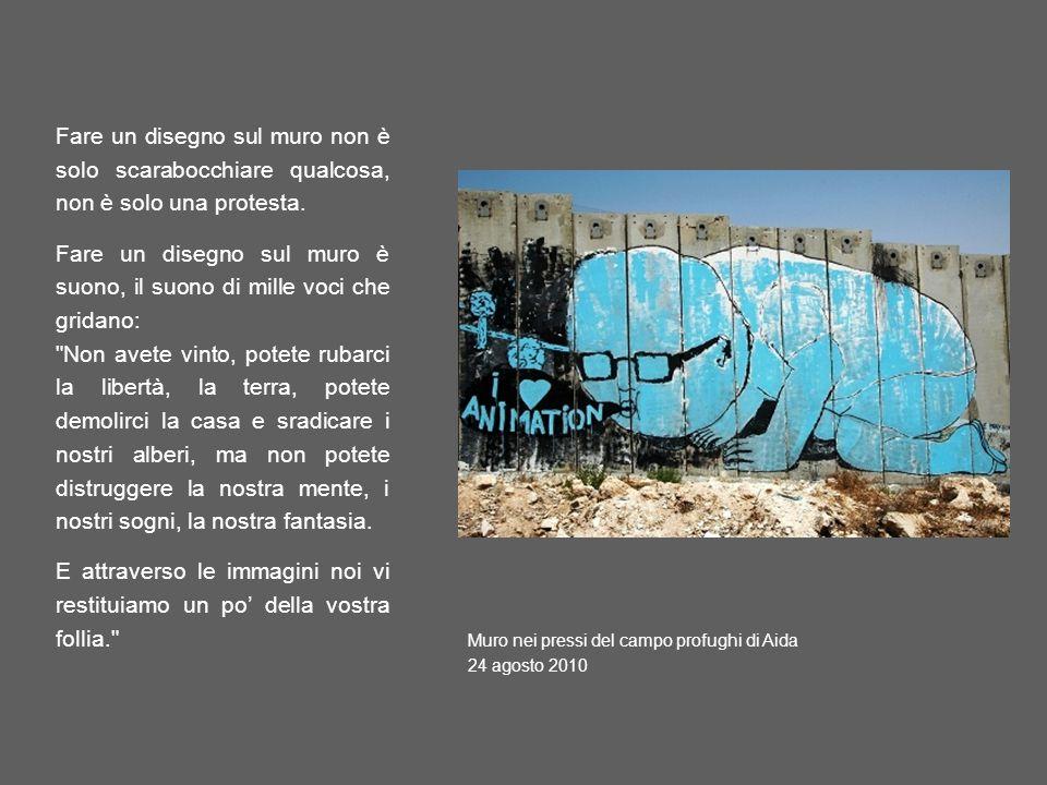 Fare un disegno sul muro non è solo scarabocchiare qualcosa, non è solo una protesta. Fare un disegno sul muro è suono, il suono di mille voci che gri