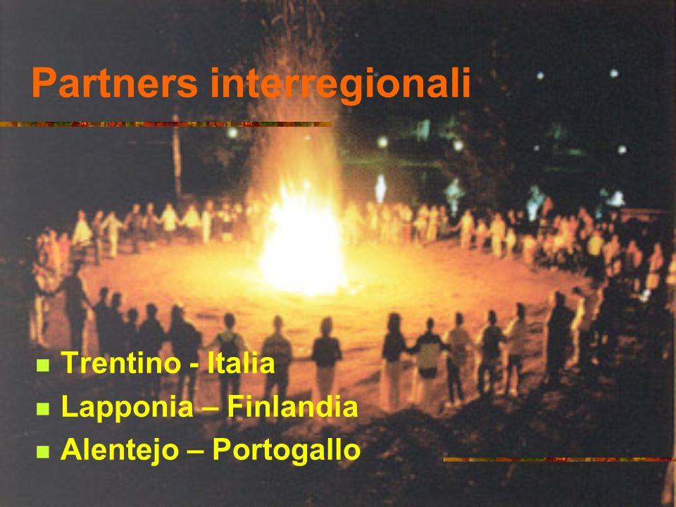 Partners interregionali Trentino - Italia Lapponia – Finlandia Alentejo – Portogallo