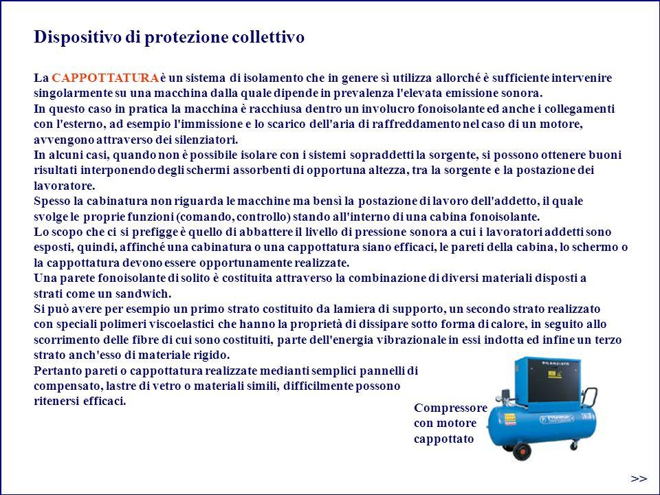 Dispositivo di protezione collettivo >> La CAPPOTTATURA è un sistema di isolamento che in genere sì utilizza allorché è sufficiente intervenire singol