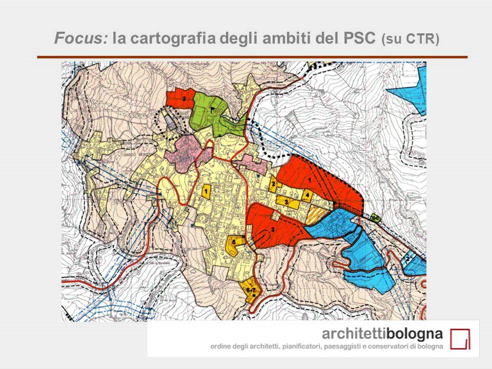 14 Focus: la cartografia degli ambiti del PSC (su CTR)