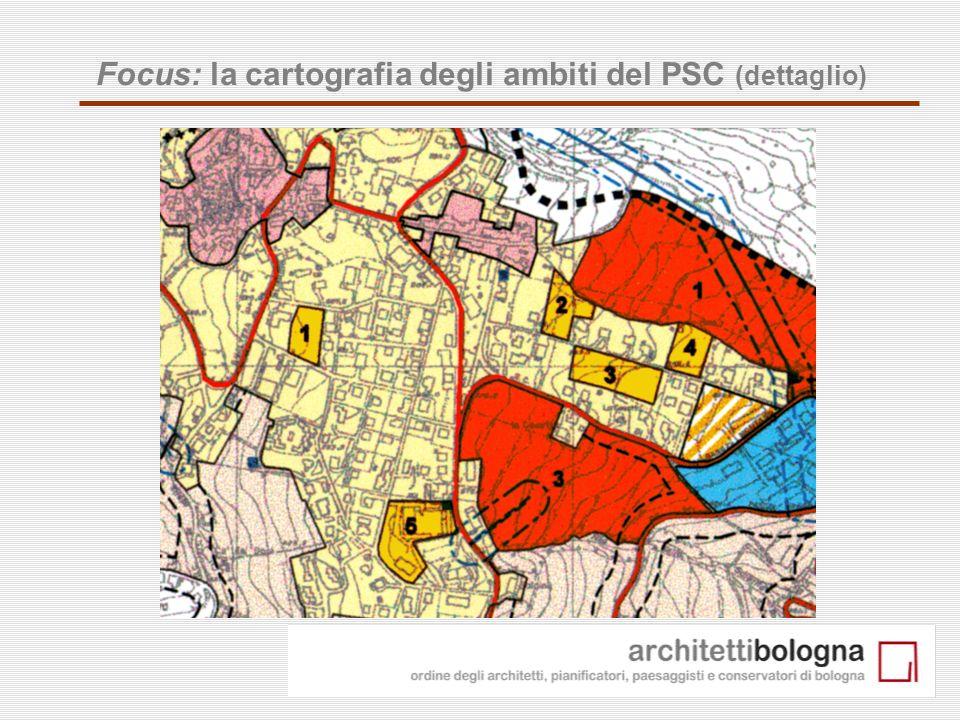 16 Focus: la cartografia degli ambiti del PSC (dettaglio)
