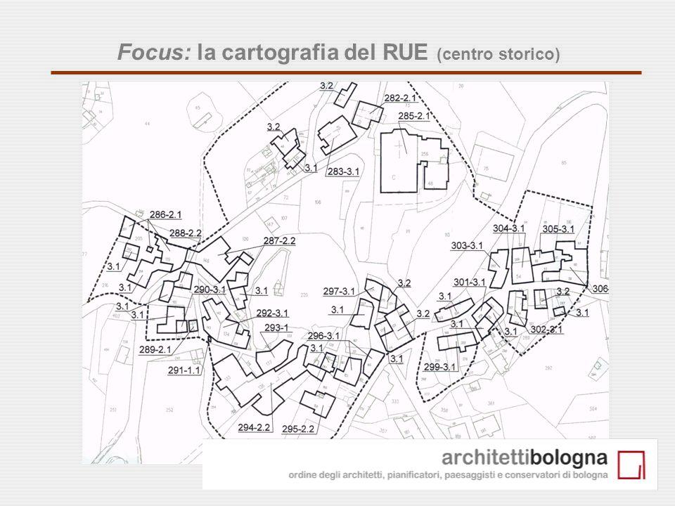 18 Focus: la cartografia del RUE (centro storico)